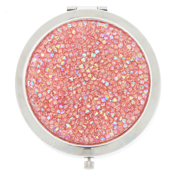 Bling Compact Mirror - Pink,