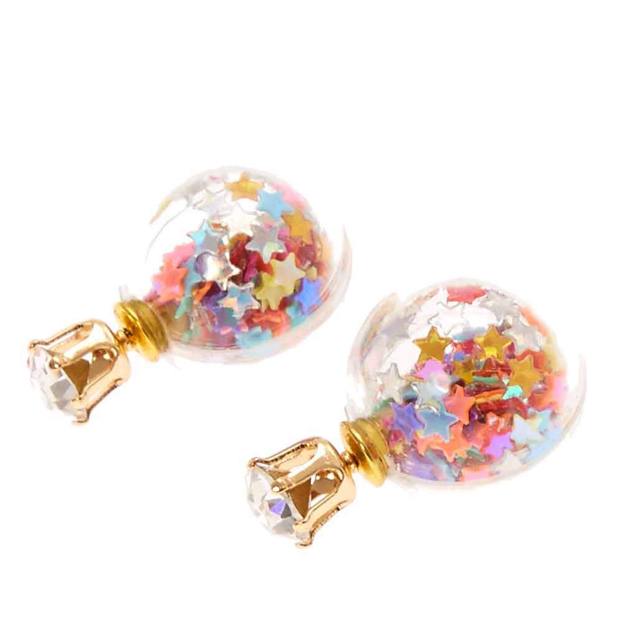 and stud strand earrings products ef collection earring rainbow side stone