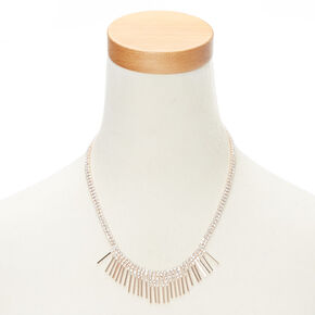 Rose Gold Crystal Bib Necklace,
