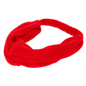 Ribbed Knot Headwrap - Red,