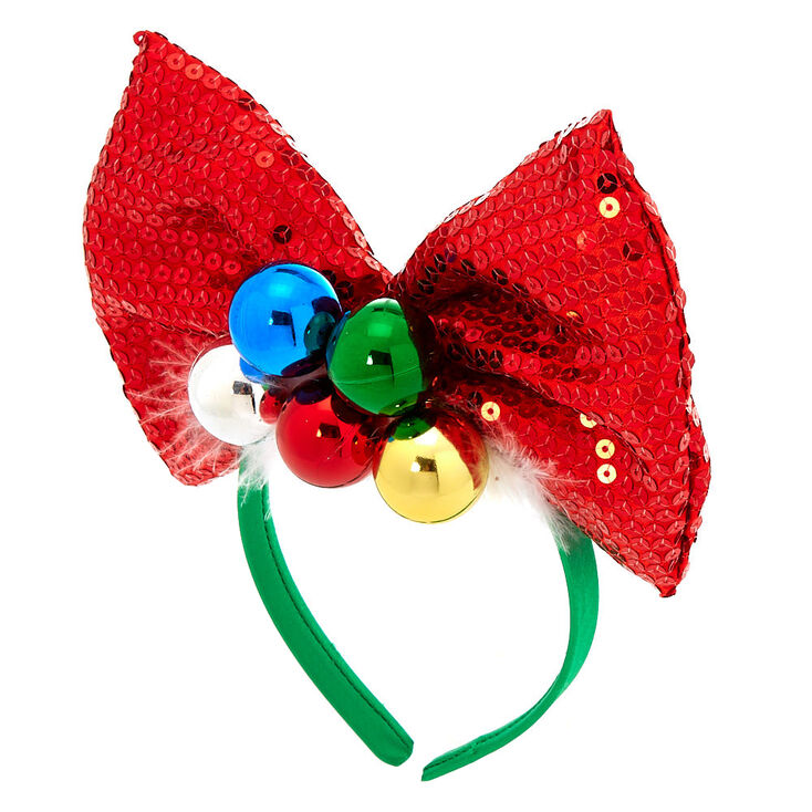 Sequin Bow & Ornaments Headband,