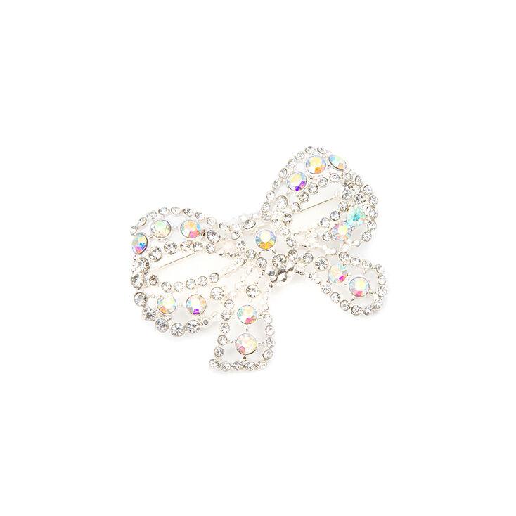Iridescent Crystal Bow Bridal Brooch,