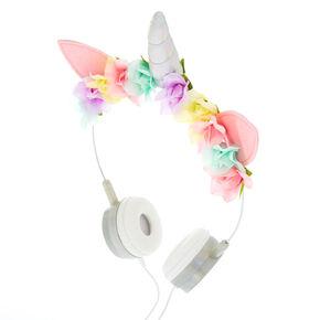 Unicorn Floral Headphones,