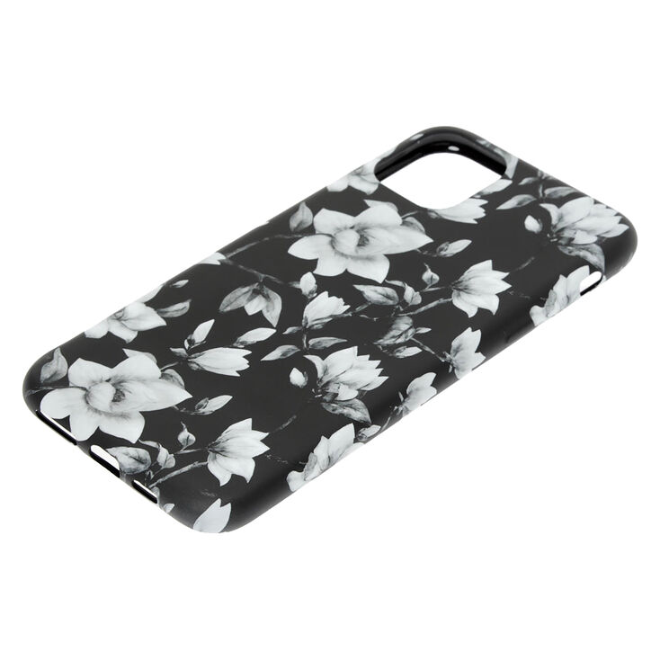 Black & White Floral Phone Case - Fits iPhone 11,
