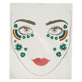 Lucky Rainbow Glitter Face Stickers,