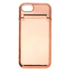 Rose Gold Mirror Protective Phone Case - Fits iPhone 6/7/8,
