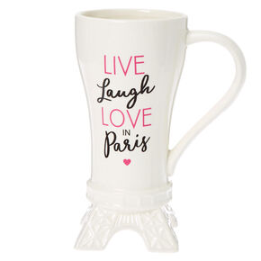 Love Paris Eiffel Tower Ceramic Mug - White,