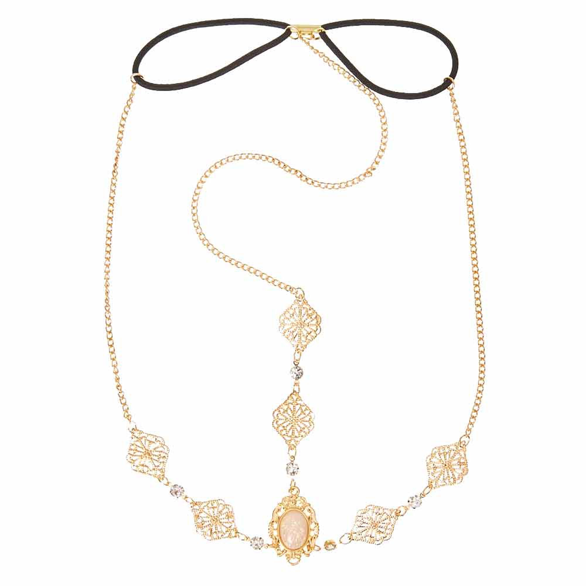 long medallion faux vintage necklace pearl chanel product goldtone oval img crown