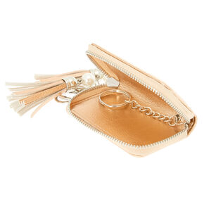 Hooray For Rose Metallic Keyring Pouch - Rose Gold,