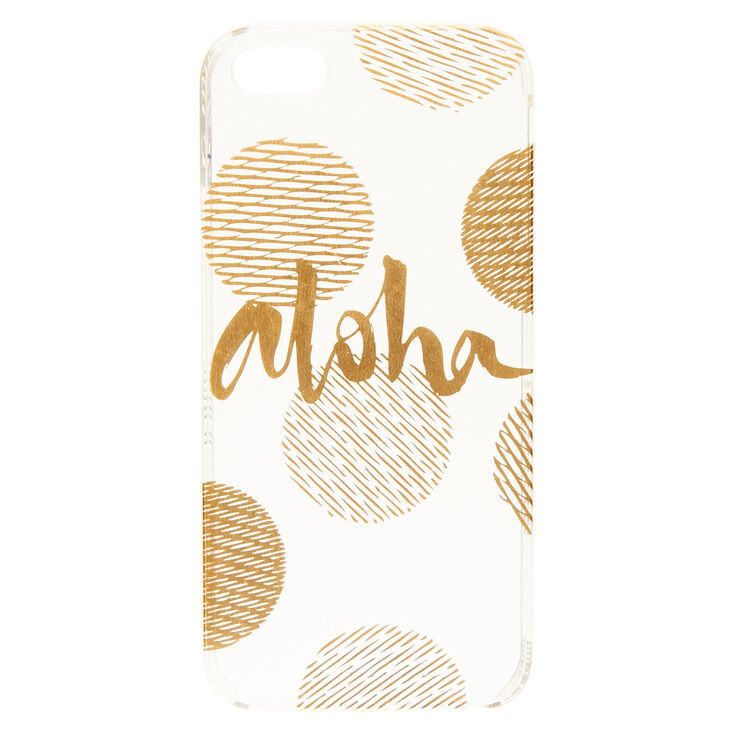 Aloha Gold Dot Phone Case,