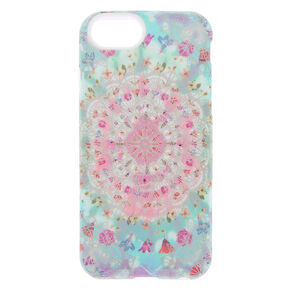 Pastel Mandala Flower Protective Phone Case - Fits iPhone 6/7/8,