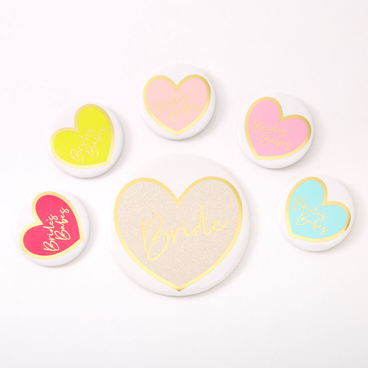 Bride's Babes Buttons - 6 Pack,