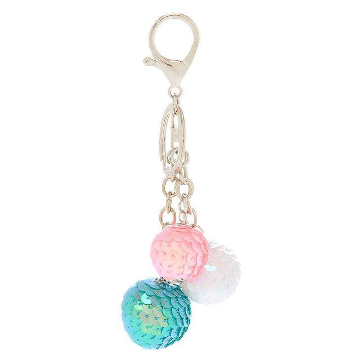 Sequin Ball Keychain,