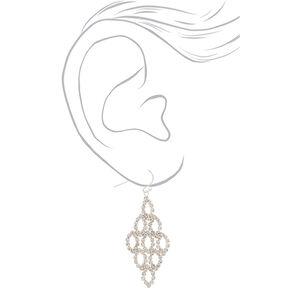 """2"""" Rhinestone Chandelier Drop Earrings,"""