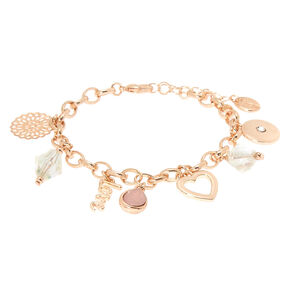 Rose Gold Romantic Charm Bracelet,