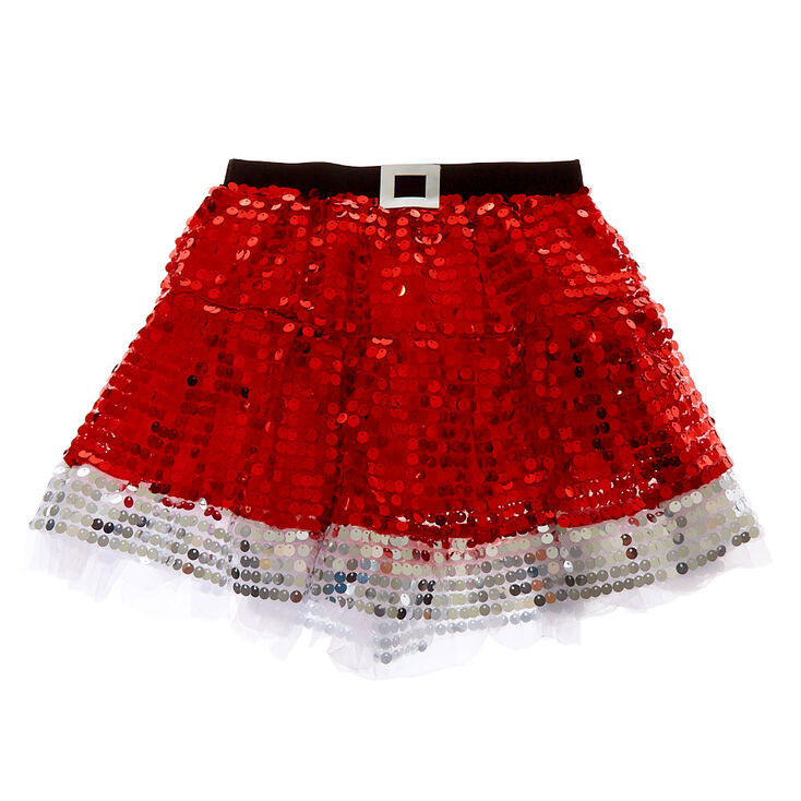Sequin Santa Tutu - Red,
