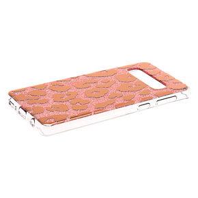 Glitter Leopard Print Phone Case - Fits Samsung Galaxy S10,