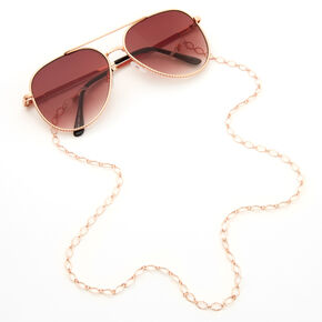 Rose Gold Sunglasses Chain Link Lanyard,