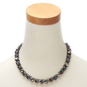 Hematite Anodized Statement Necklace,
