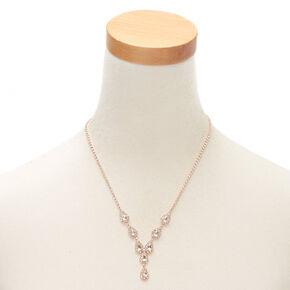 Rose Gold Teardrop Jewelry Set - 3 Pack,
