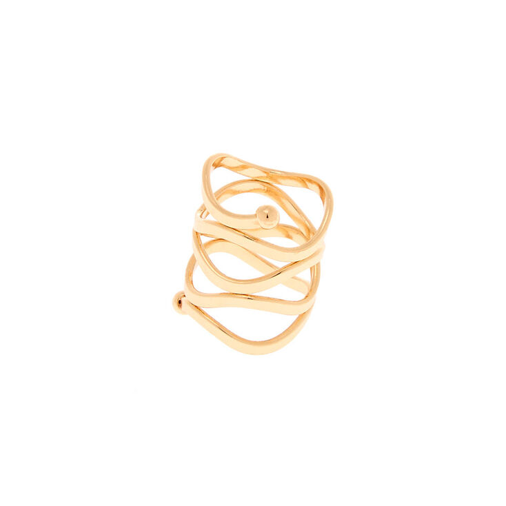 Gold Twist Wrap Ring,