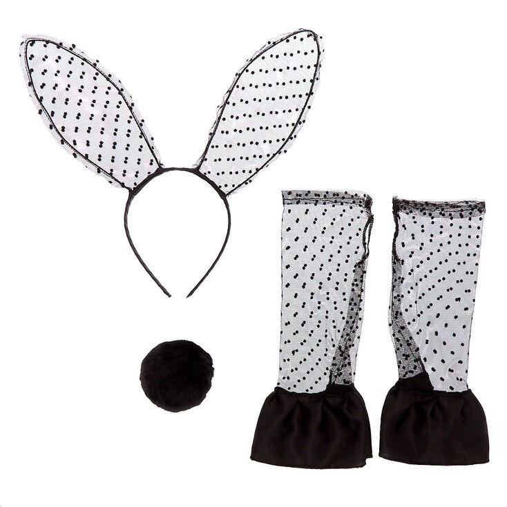 Lace Bunny Costume Kit - Black, 3 Pack,