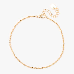 Gold Twisted Chain Anklet,