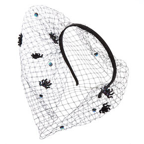 Spider Veil Headband - Black,