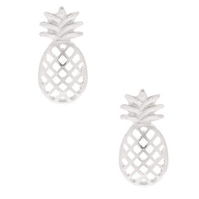 Silver Pineapple Stud Earrings,