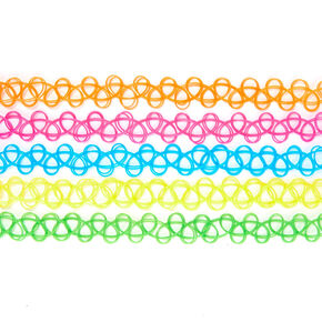 Neon Tattoo Choker Set,