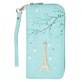Paris Pearl Wristlet - Mint,