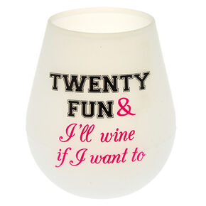 Silicone Twenty-Fun Glass - White,