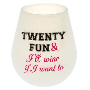 Silicone Twenty-Fun Glass - White,
