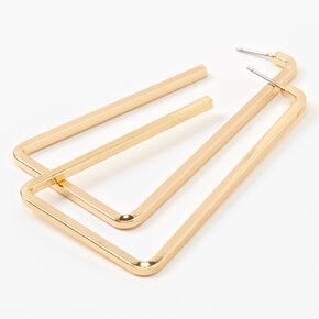Gold 60MM Geometric Large Hoop Earrings,
