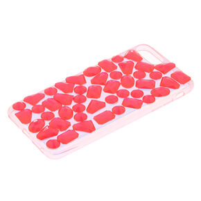 Electric Pink Jewel Phone Case - Fits iPhone 6/7/8 Plus,