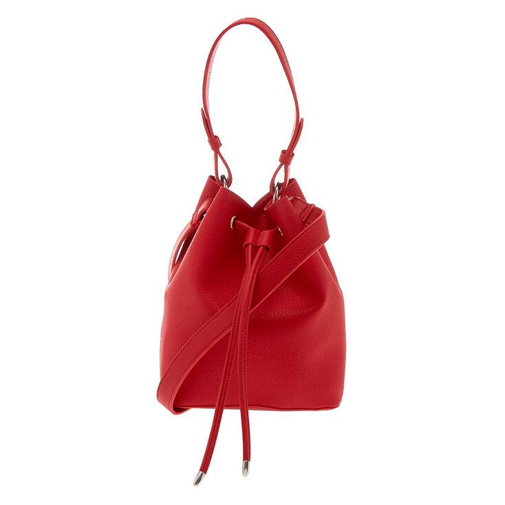 Bucket Crossbody Bag - Red,