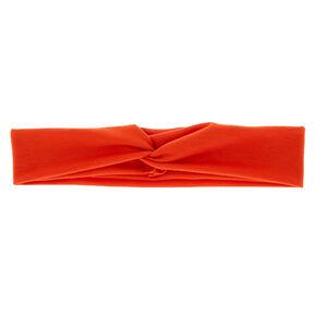 Wide Jersey Headwrap - Burnt Orange,
