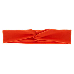 Wide Jersey Headwrap - Burnt Orange,