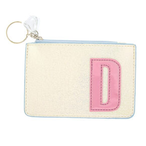 Pearlescent Initial Coin Purse - D,