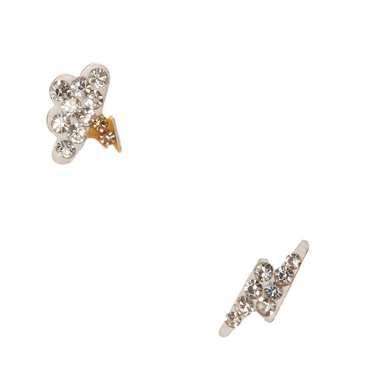 925 Sterling Silver Crystal Storm Earrings,