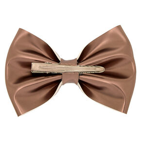 Metallic Hair Bow Clip - Gold,