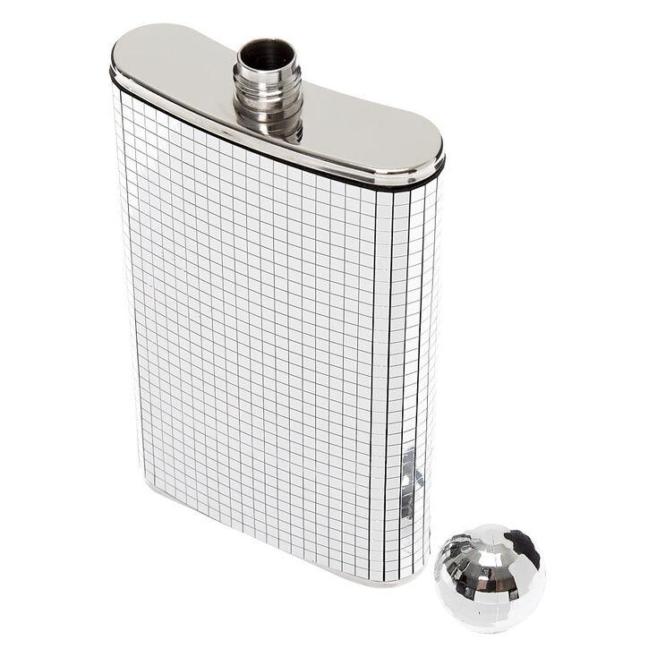 Disco Ball Flask - Silver,