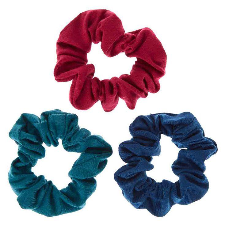 Small Cool Tone Hair Scrunchies - 3 Pack,