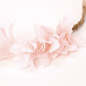Flower Petal Braided Headwrap - Blush Pink,