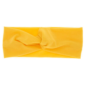Wide Jersey Headwrap - Yellow,