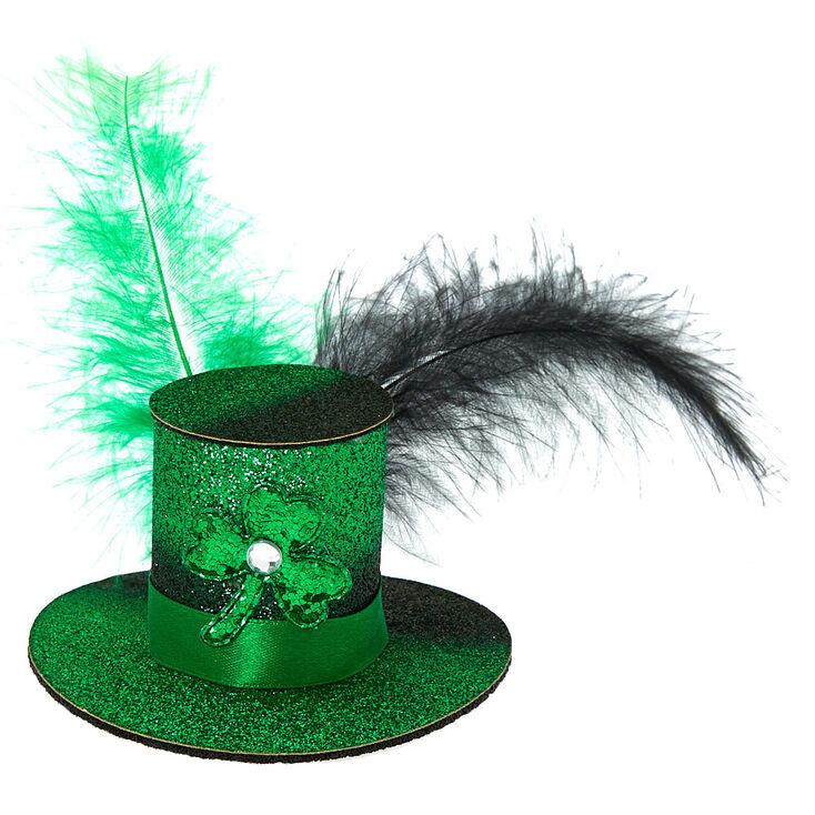 Mini Irish Hat Hair Clip - Green,
