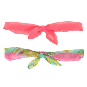 Hot Tropical Headwraps - Coral, 2 Pack,