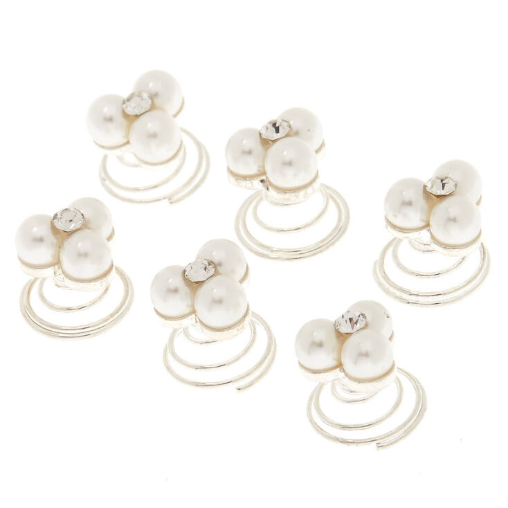 Pearl Cluster Hair Spinners,