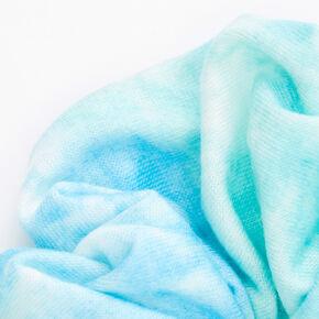 Medium Pastel Tie Dye Hair Scrunchie - Mint,