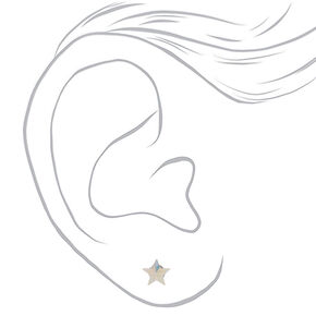 Sterling Silver 5MM Swarovski® Elements Star Earrings,